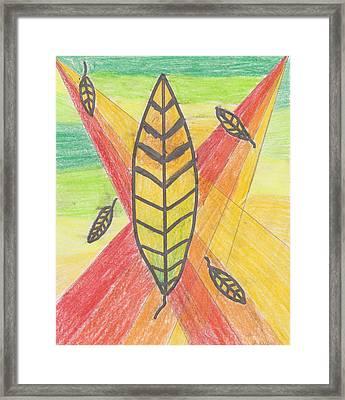 Rainbow Autumn Framed Print by Jessica Ristau