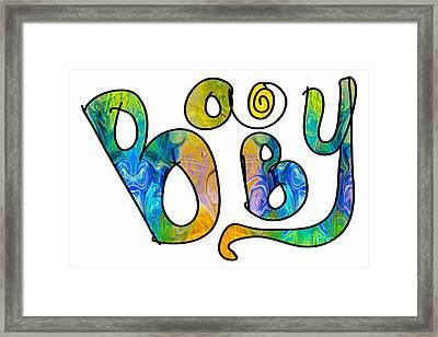 Rainbow Baby Abstract Baby Artwork By Omaste Witkowski Framed Print by Omaste Witkowski