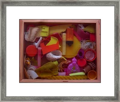 Rainbow Beach Box I Framed Print by Adam Kissel