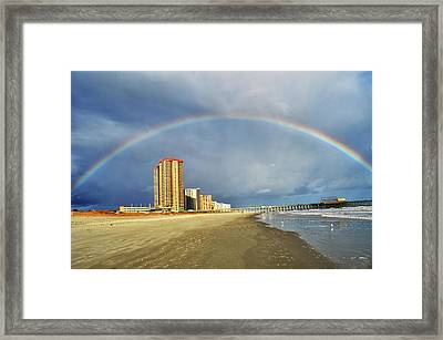 Rainbow Beach Framed Print by Kelly Reber