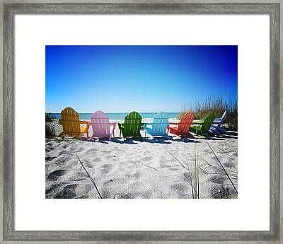 Rainbow Beach Vanilla Pop Framed Print