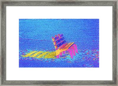 Rainbow Bench Framed Print by Rose  Hill