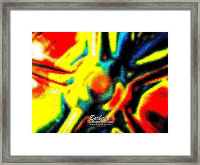Framed Print featuring the photograph Rainbow Bliss #051347 by Barbara Tristan