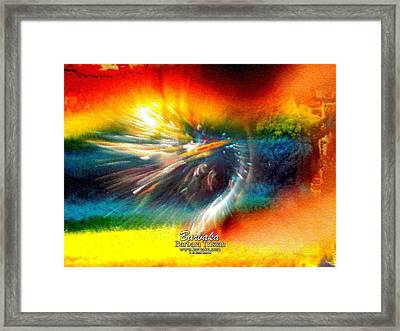 Framed Print featuring the photograph Rainbow Bliss #053329 by Barbara Tristan