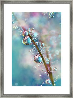 Rainbow Blue Smokey Drops Framed Print