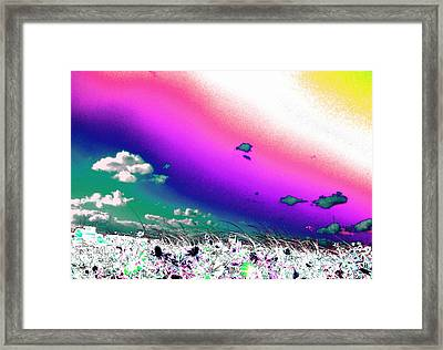 Rainbow Borealis Framed Print