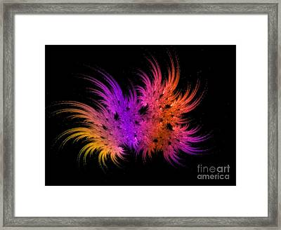 Rainbow Bouquet Framed Print