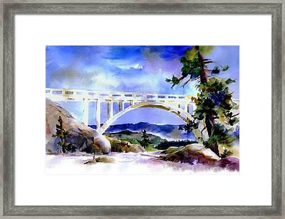 Rainbow Bridge Above Donnerlk#2 Framed Print