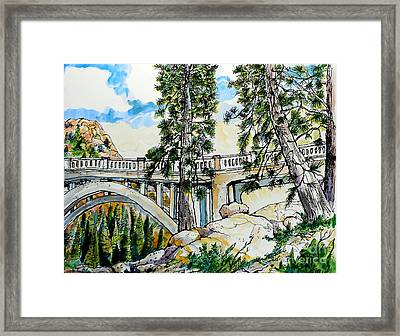 Rainbow Bridge At Donner Summit Framed Print