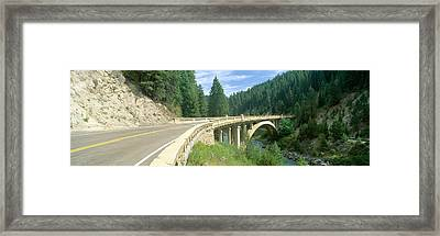 Rainbow Bridge, Highway 55, Payette Framed Print by Panoramic Images