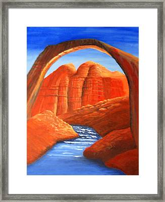 Rainbow Bridge Framed Print by Ted Hess