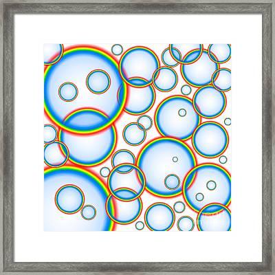Rainbow Bubbles Framed Print