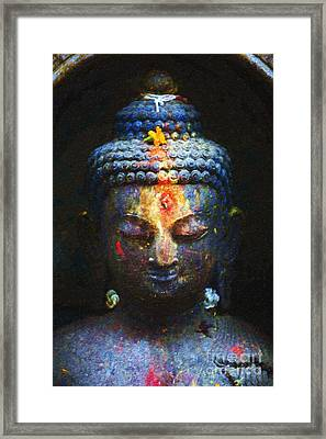 Rainbow Buddha Framed Print by Tim Gainey