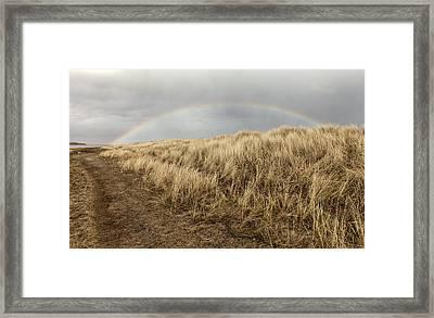 Rainbow By The Seaside Framed Print