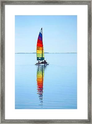 Rainbow Catamaran Framed Print