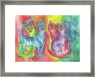 Rainbow Cats 2017 06 23 Framed Print
