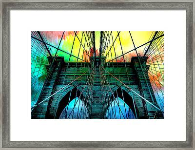 Rainbow Ceiling  Framed Print by Az Jackson