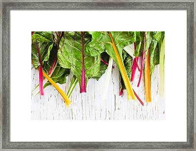 Rainbow Chard Framed Print