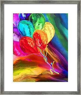 Rainbow Chaser Framed Print by Carol Cavalaris