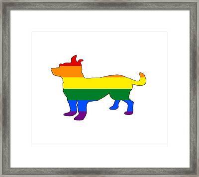 Rainbow Chihuahua Framed Print by Mordax Furittus