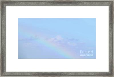 Framed Print featuring the digital art Rainbow Clouds And Sky by Francesca Mackenney