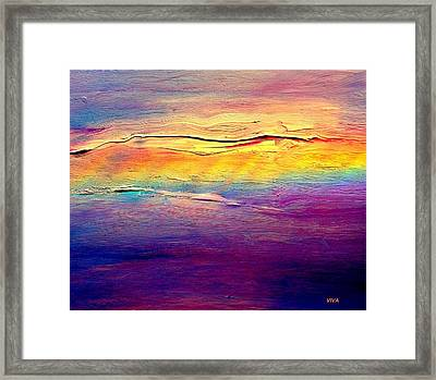 Rainbow Clouds Full Spectrum Framed Print by VIVA Anderson