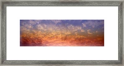 Rainbow Clouds Framed Print by Panoramic Images