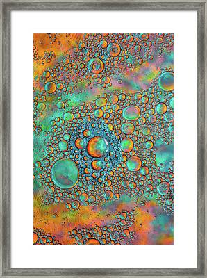 Rainbow Color Flow Framed Print by Bruce Pritchett