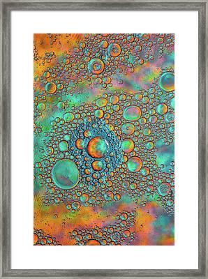 Rainbow Color Flow Framed Print