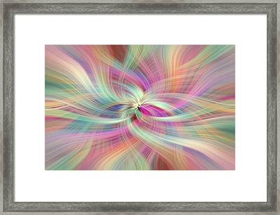 Rainbow Colored Abstract. Concept Divine Virtues Framed Print by Jenny Rainbow
