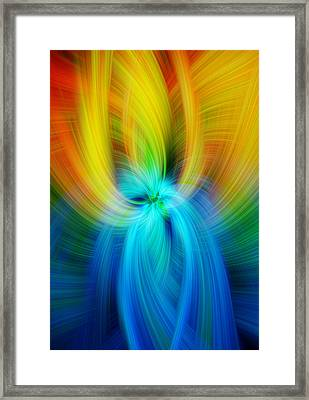 Rainbow Colored Abstract. Concept Humane Idealism  Framed Print