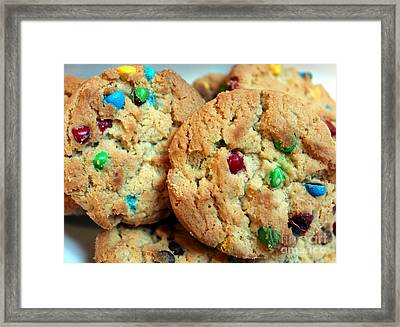 Rainbow Cookies Framed Print by Barbara Griffin