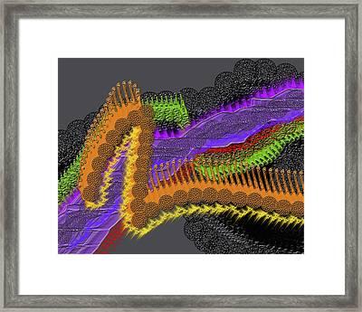 Rainbow Currents Framed Print
