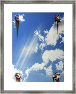 Rainbow-deception Framed Print by Jurek Zamoyski