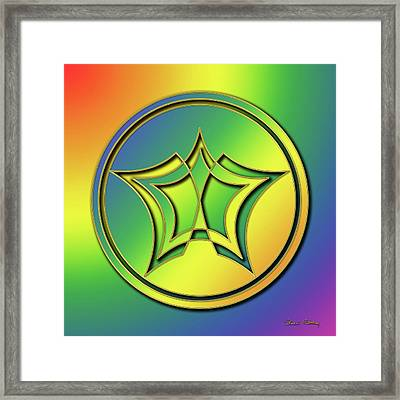 Framed Print featuring the digital art Rainbow Design 1 by Chuck Staley