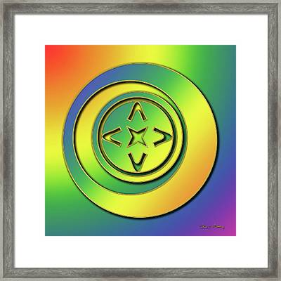 Framed Print featuring the digital art Rainbow Design 2 by Chuck Staley