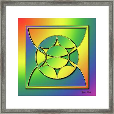 Framed Print featuring the digital art Rainbow Design 3 by Chuck Staley