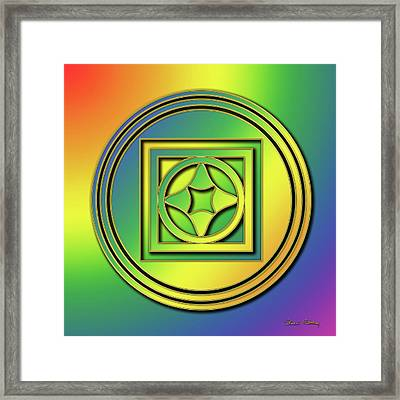 Framed Print featuring the digital art Rainbow Design 4 by Chuck Staley