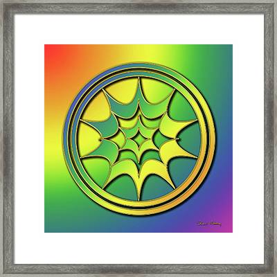 Framed Print featuring the digital art Rainbow Design 5 by Chuck Staley