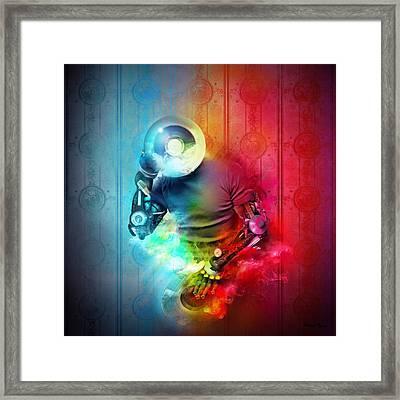 Rainbow Dj Framed Print by Robert Palmer