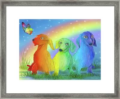 Rainbow Doxies 2 Framed Print