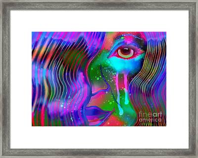 Rainbow Dream Eyes  Framed Print