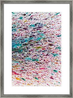 Rainbow Explosion Framed Print