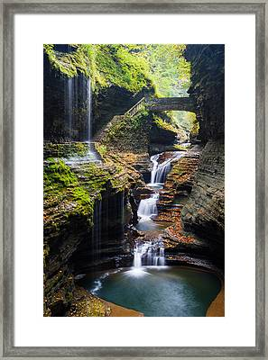 Rainbow Falls Framed Print by Adam Pender