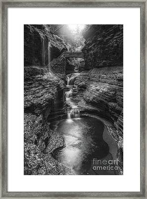 Rainbow Falls Black And White Framed Print by Michael Ver Sprill