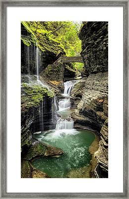 Rainbow Falls Gorge Framed Print