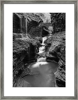 Rainbow Falls Gorge - Watkins Glen Framed Print