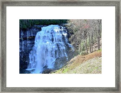 Rainbow Falls In Gorges State Park Nc 02 Framed Print by Bruce Gourley