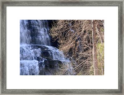 Rainbow Falls In Gorges State Park Nc 03 Framed Print by Bruce Gourley