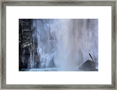Rainbow Falls In Gorges State Park Nc Framed Print by Bruce Gourley